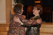 Maylanne congratulates 2013 graduate Alice Watson