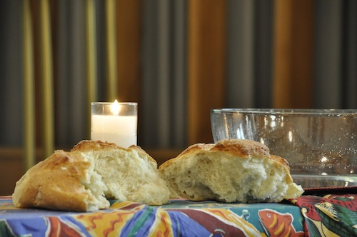 bread, bowl, and candle