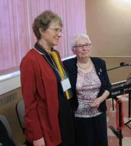 Jessie MacLeod and CCS principal Maylanne Maybee