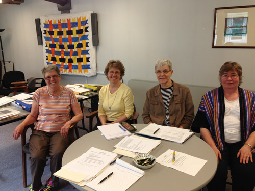 Archives Working Group: Gwenna Moss, Maylanne Maybee, Diane Haglund, Terry Reilly