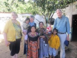 Jamie with host family in Cerro Alto