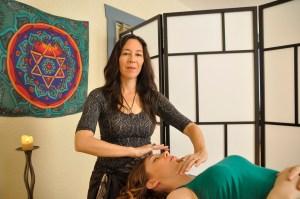 Diaconal minister Kimiko Karpoff practising Healing Pathway
