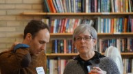 Program Staff member David Lappano in deep discussion with Central Council co-chair Kathy Platt