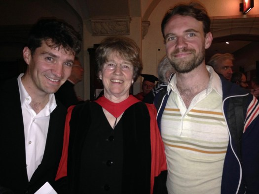 Maylanne and her sons at the Trinity College convocation