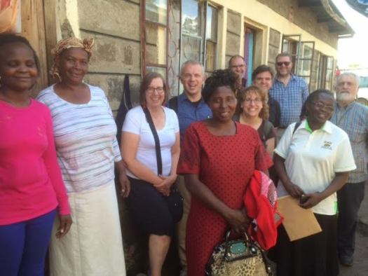 Foodgrains study tour members with Lucia Kamau (second from left). Lori Stewart is third from the left.