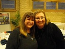 Lorri and Debra at grad banquet