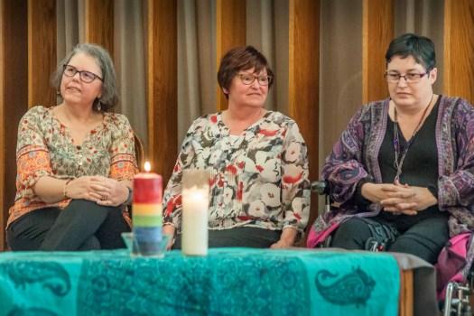 Grads Anita Rowland, Catherine Underhill, Melanie Ihmels