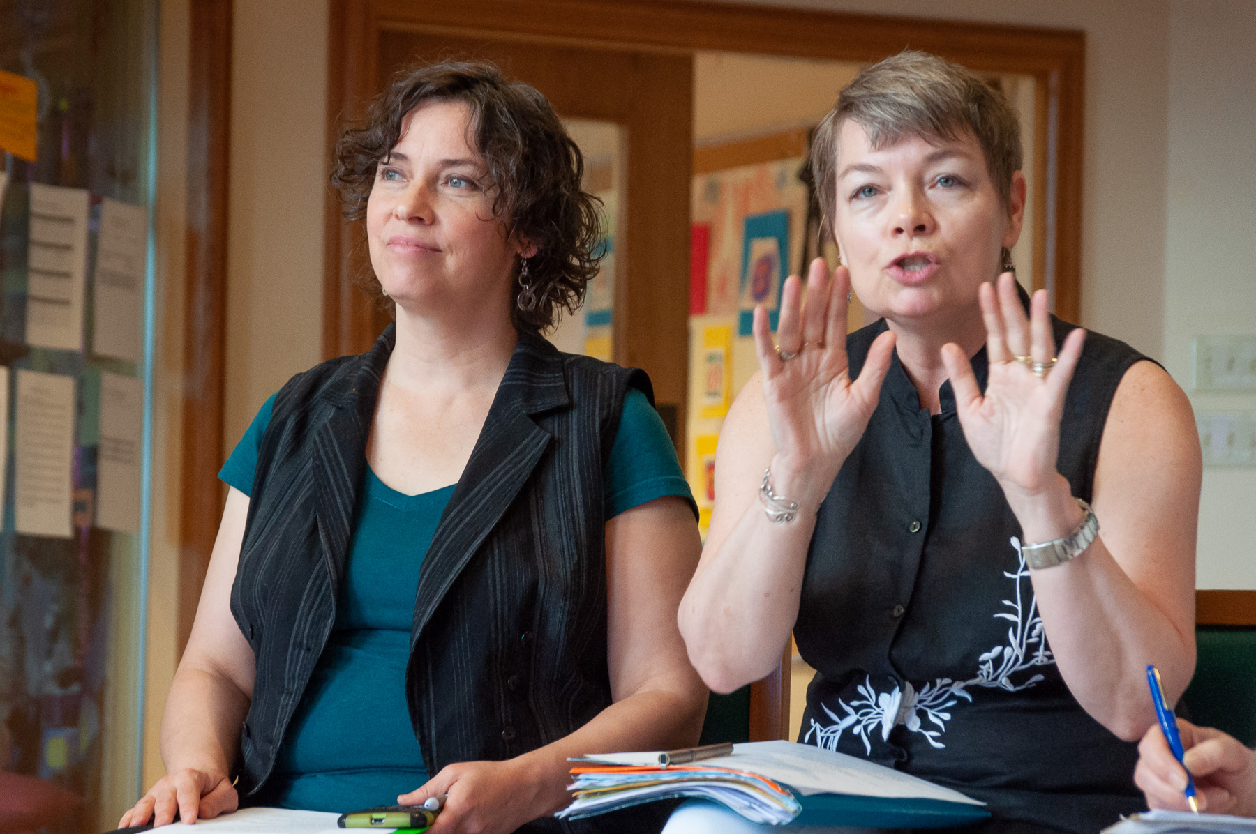 Co-facilitators Gwen and Janet