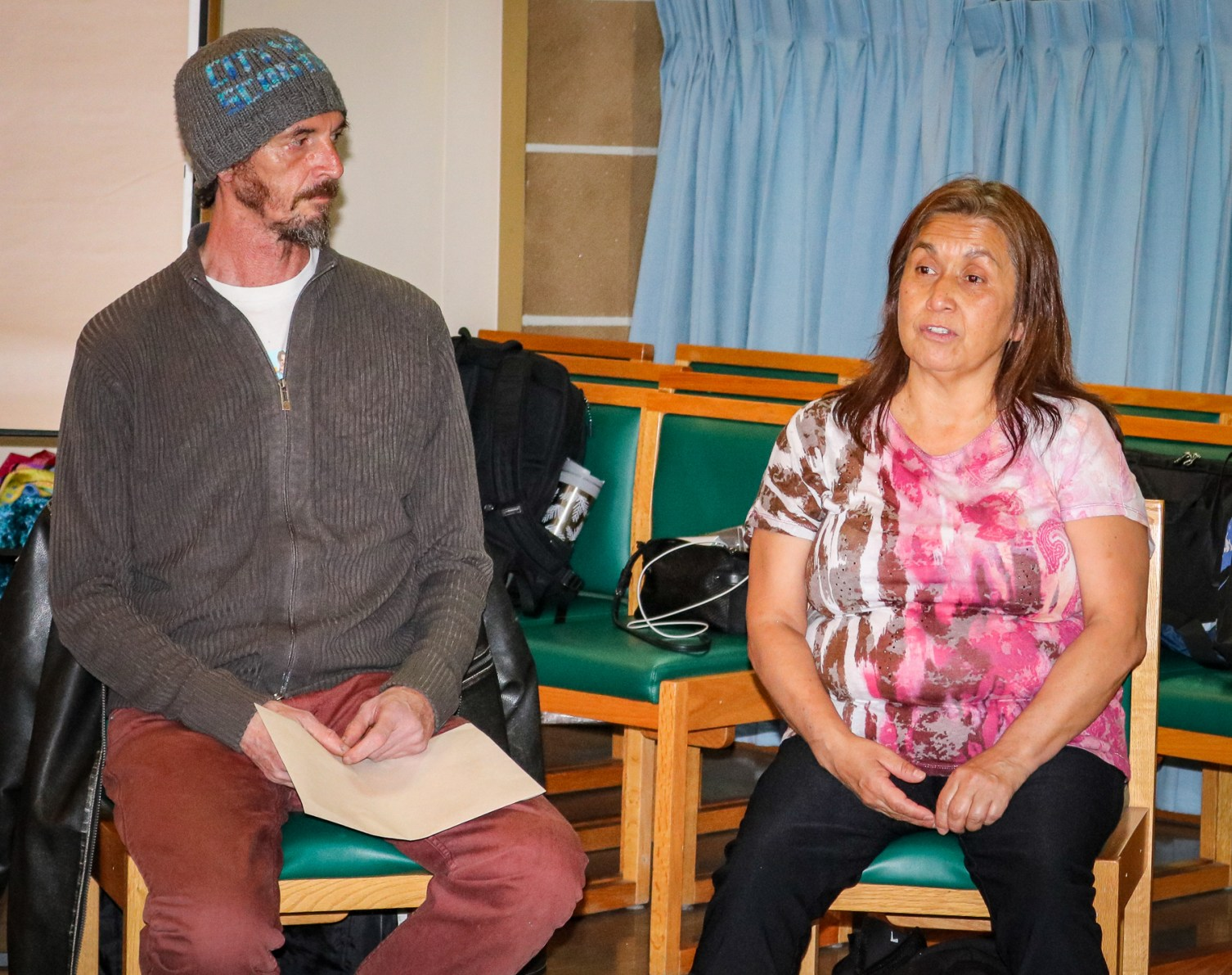 Guest story-tellers from Our Place Society, Shirley and Carlos