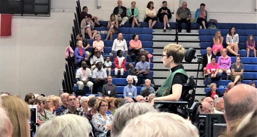 Rev Miriam Spies preaches the Word.