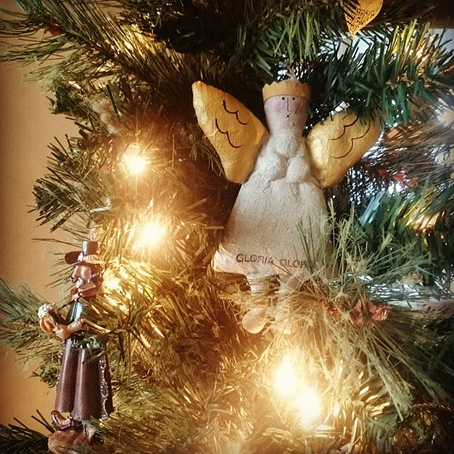 Angel decoration in a Christmas tree