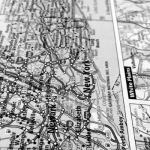 new york black and white map
