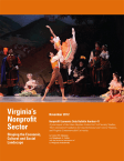 Virginia: Virginia's Nonprofit Sector - Shaping the economic, cultural, and social landscape (2012)