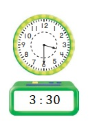 Go-Math-Grade-1-Chapter-9-Answer-Key-Measurement-Lesson-9.8-Tell-Time-to-the-Hour-and-Half-Hour-On-Your-Own-Question-7