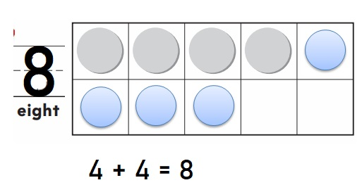 Go-Math-Grade-K-Chapter-3-Answer-Key-Represent-Count-and-Write-Numbers-6-to-9-Model-and-Count-8- Homework-Practice-3.5-Lesson-Check-Question-1