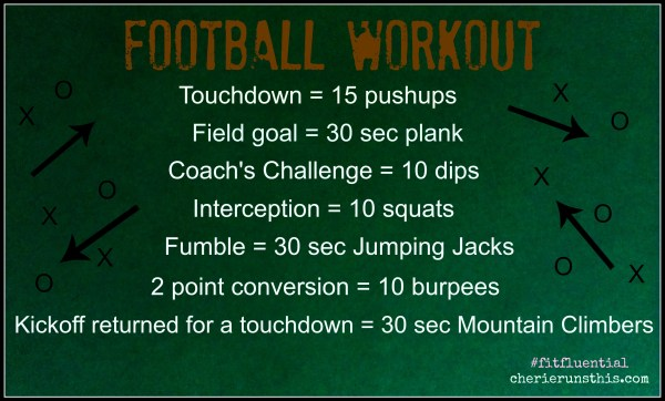 football drinking game but exercise instead