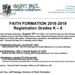 Faith Formation for Children