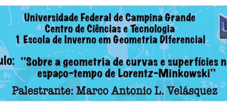 I Escola de Inverno em Geometria Diferencial realiza nova palestra nesta quinta-feira (9/7)