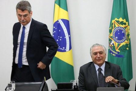 Parlamentarios Cunha y Temer