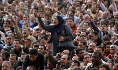 Mujer en Tahrir