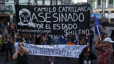 Marcha Nacional No Mas Zonas de Sacrificio y por la muerte de Camilo Catrillanca en Valparaiso.