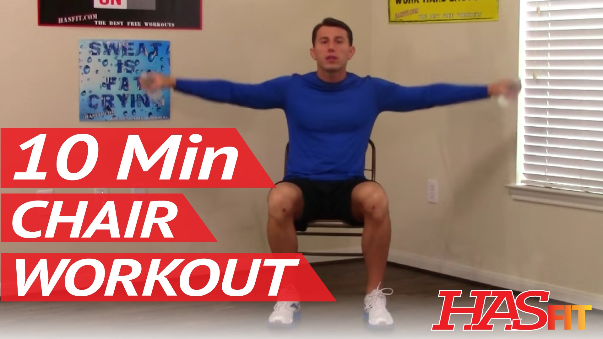 Chair Exercise 10 Min Chair Workout For Seniors Hasfit Seated Exercise For