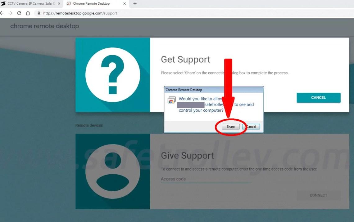 Get Support via Google Chrome Remote Desktop