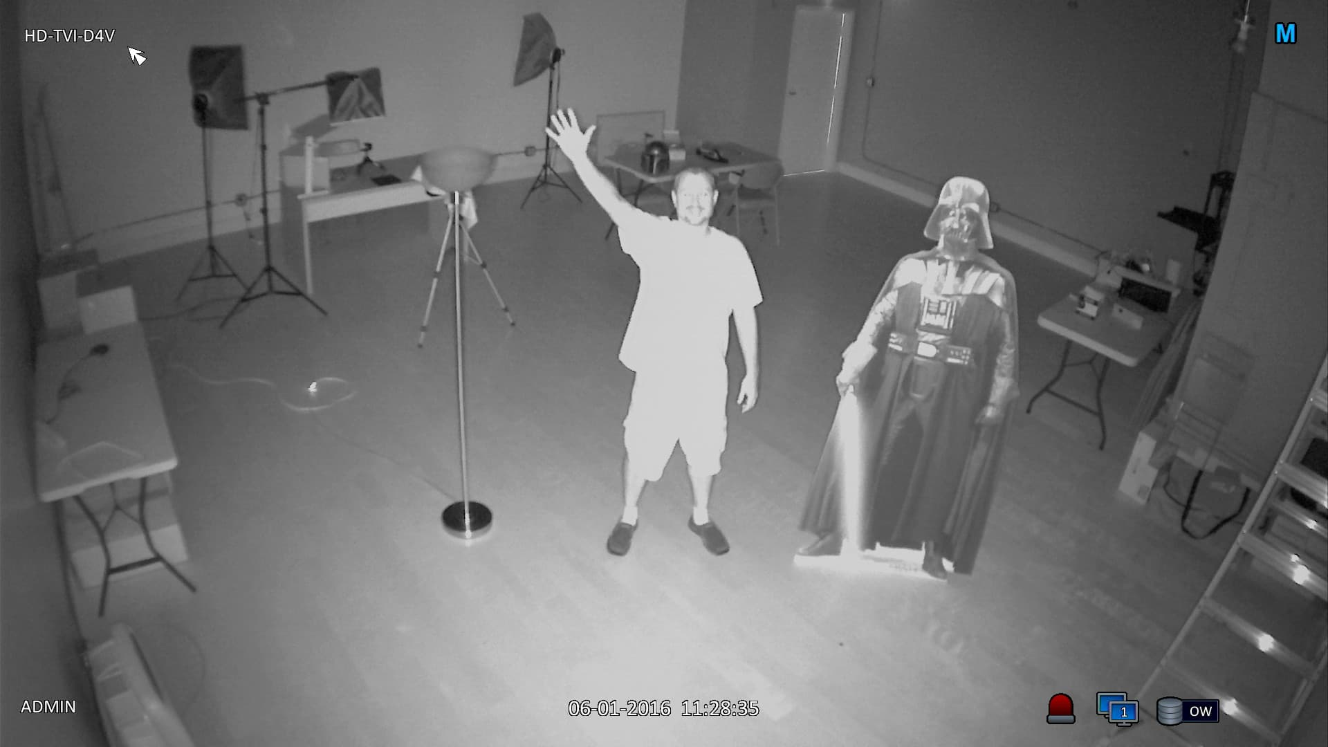 Indoor Dome HD-TVI Camera, 1080p Video, Varifocal Lens, IR