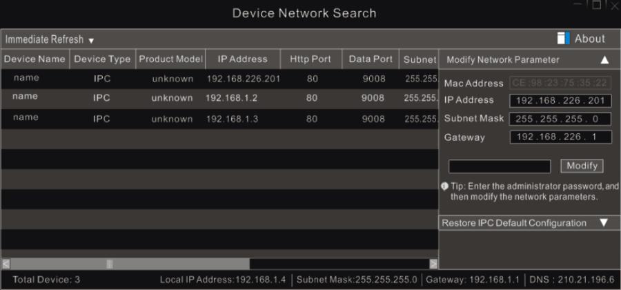 TVT IP tool
