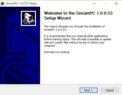 Installation Wizard of this software