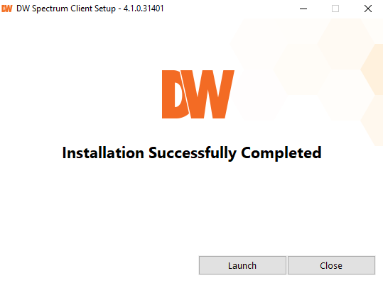 Finish the installation for Windows