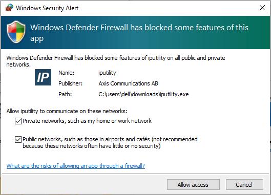 Allow firewall access