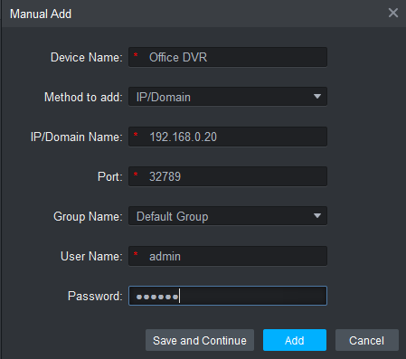 Add device details on the software