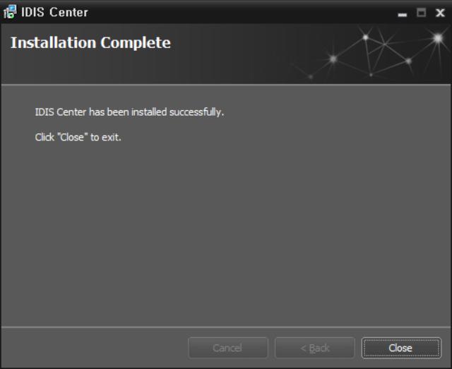Close the installer