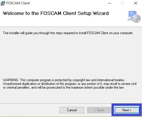 Start the installation wizard