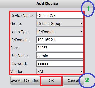 Add device credentials