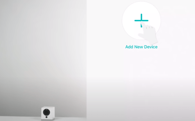 Add device on the mobile app
