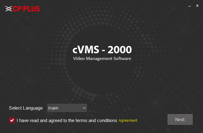 Select the language of the CMS