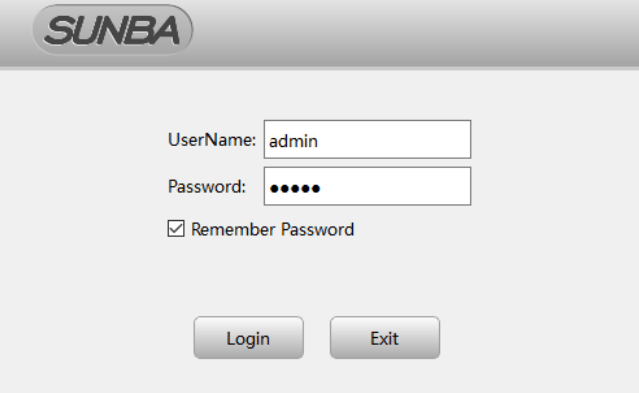 Logging into the CMS software