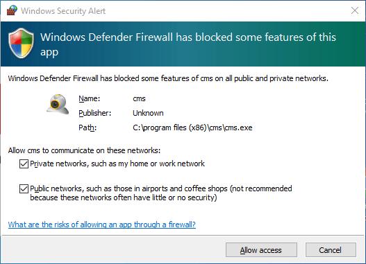 Provide Firewall Access