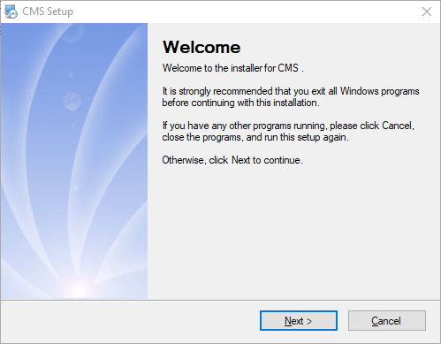 Installation wizard of General CMS