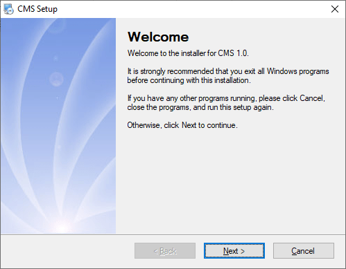 Start the Installer of Guard PTCAM For PC