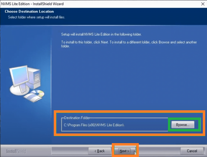 Assigning the installation directory