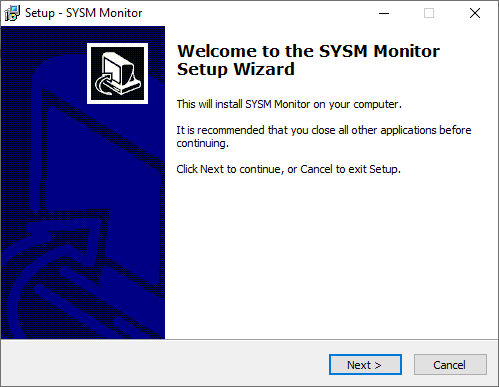 Start the installation of the CMS