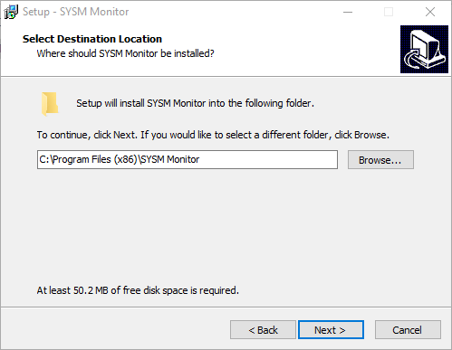 Assign the installation path of the software