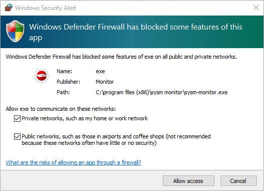 Windows Firewall security