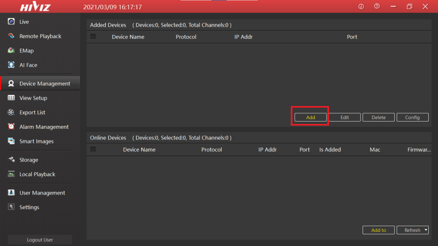 Device Manager of HiVMS