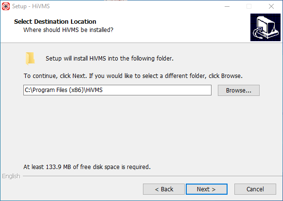 Select the directory folder