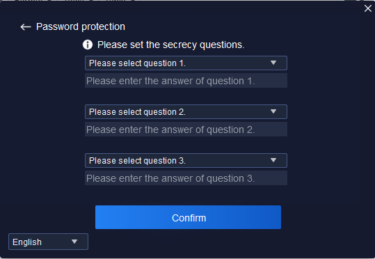 security question of the software