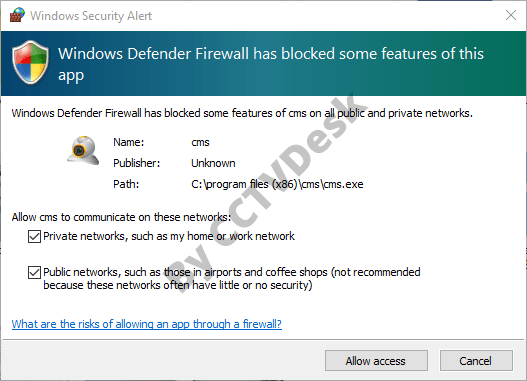 Provide the Firewall security access